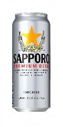 Пиво Sapporo - Premium beer in the can ж/б 0.5 л,4